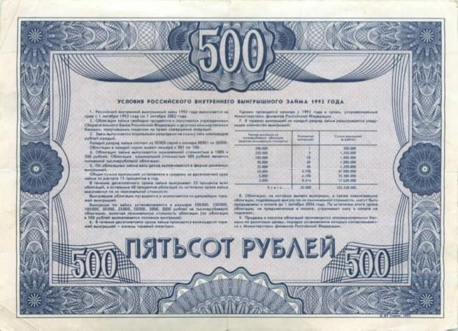 облигация займа 1992 года стоимость