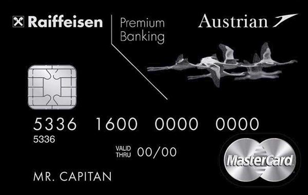 Карта «Austrian Airlines Black Edition» от Райффайзенбанка